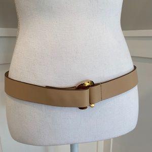 Tod's tan/peach genuine leather belt
